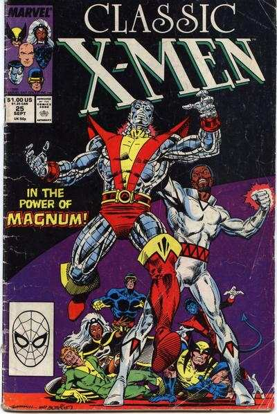 Classic X-Men #25 comic books - cover scans photos Classic X-Men #25 comic books - covers, picture gallery