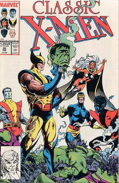 Classic X-Men #30 comic books - cover scans photos Classic X-Men #30 comic books - covers, picture gallery