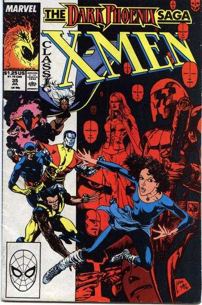 Classic X-Men #35 comic books - cover scans photos Classic X-Men #35 comic books - covers, picture gallery