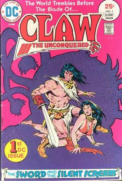 Claw the Unconquered Comic Books. Claw the Unconquered Comics.