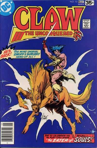 Claw the Unconquered #10 comic books - cover scans photos Claw the Unconquered #10 comic books - covers, picture gallery