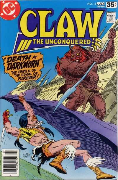 Claw the Unconquered #11 comic books - cover scans photos Claw the Unconquered #11 comic books - covers, picture gallery