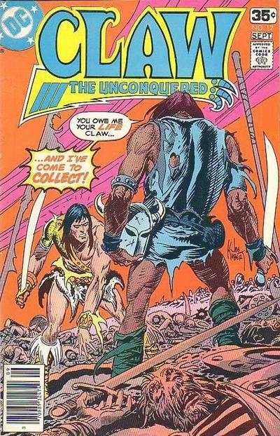 Claw the Unconquered #12 Comic Books - Covers, Scans, Photos  in Claw the Unconquered Comic Books - Covers, Scans, Gallery