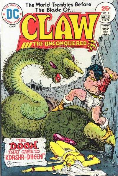 Claw the Unconquered #2 comic books - cover scans photos Claw the Unconquered #2 comic books - covers, picture gallery