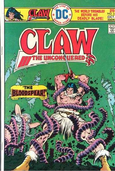 Claw the Unconquered #3 comic books - cover scans photos Claw the Unconquered #3 comic books - covers, picture gallery
