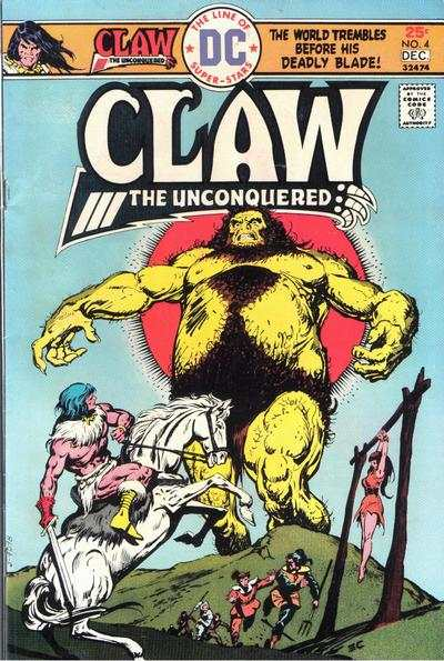Claw the Unconquered #4 comic books - cover scans photos Claw the Unconquered #4 comic books - covers, picture gallery