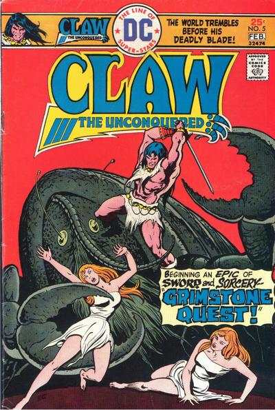 Claw the Unconquered #5 comic books - cover scans photos Claw the Unconquered #5 comic books - covers, picture gallery