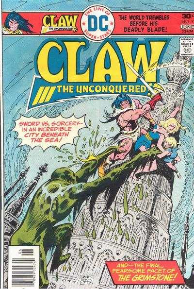 Claw the Unconquered #7 comic books - cover scans photos Claw the Unconquered #7 comic books - covers, picture gallery