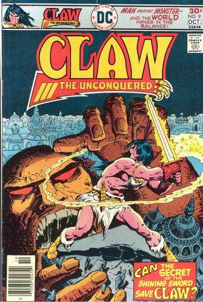 Claw the Unconquered #9 comic books for sale