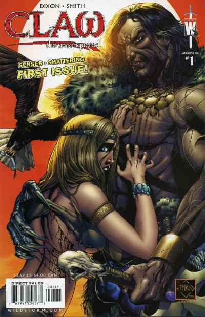 Claw the Unconquered #1 comic books - cover scans photos Claw the Unconquered #1 comic books - covers, picture gallery