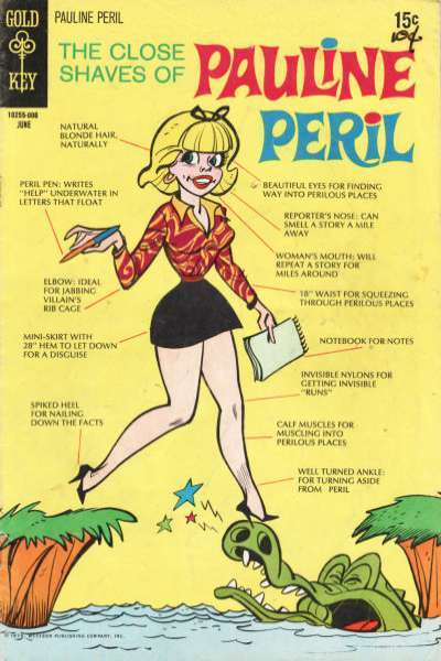 Close Shaves of Pauline Peril #1 Comic Books - Covers, Scans, Photos  in Close Shaves of Pauline Peril Comic Books - Covers, Scans, Gallery