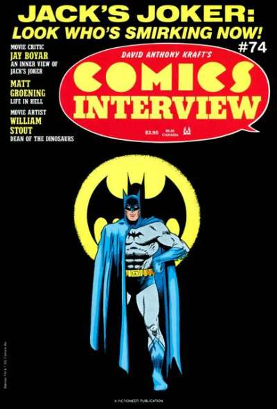Comics Interview #74 Comic Books - Covers, Scans, Photos  in Comics Interview Comic Books - Covers, Scans, Gallery