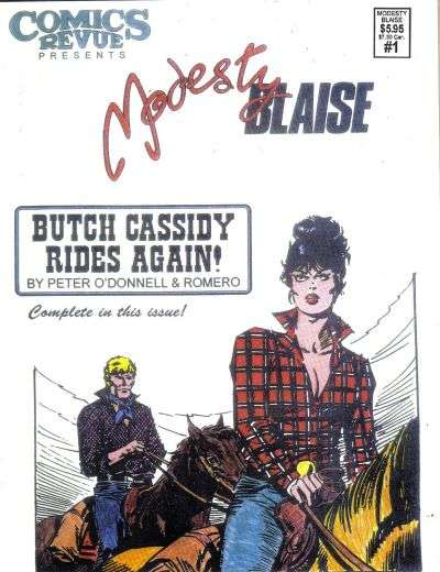 Comics Revue Presents Modesty Blaise comic books