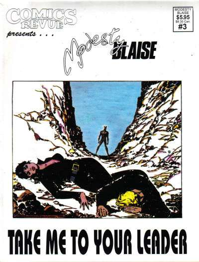 Comics Revue Presents Modesty Blaise #3 Comic Books - Covers, Scans, Photos  in Comics Revue Presents Modesty Blaise Comic Books - Covers, Scans, Gallery