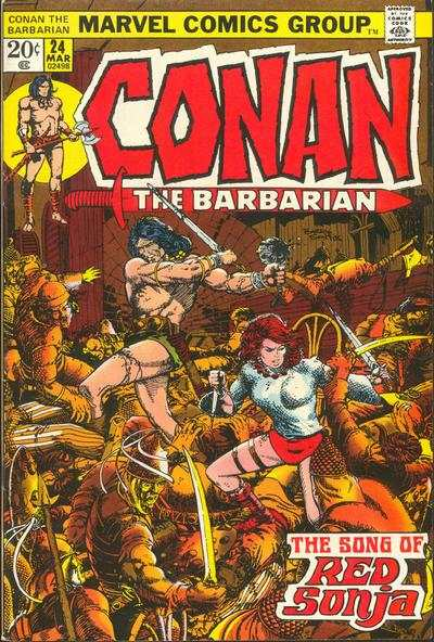 Conan the Barbarian #24 comic books - cover scans photos Conan the Barbarian #24 comic books - covers, picture gallery