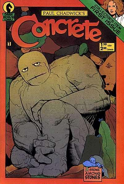 Concrete #1 Comic Books - Covers, Scans, Photos  in Concrete Comic Books - Covers, Scans, Gallery