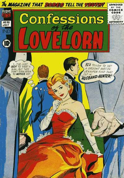 Confessions of the Lovelorn #95 Comic Books - Covers, Scans, Photos  in Confessions of the Lovelorn Comic Books - Covers, Scans, Gallery