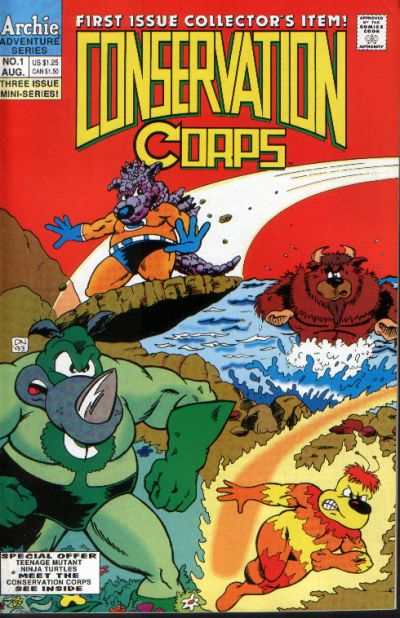 Conservation Corps #1 Comic Books - Covers, Scans, Photos  in Conservation Corps Comic Books - Covers, Scans, Gallery