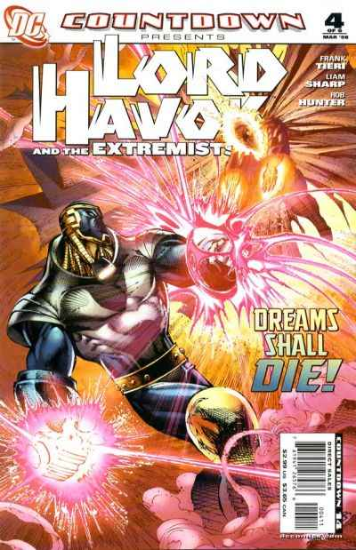 Countdown Presents: Lord Havok and the Extremists #4 comic books for sale