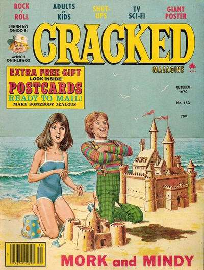 Cracked #163 comic books - cover scans photos Cracked #163 comic books - covers, picture gallery