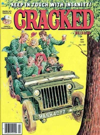 Cracked #168 comic books - cover scans photos Cracked #168 comic books - covers, picture gallery
