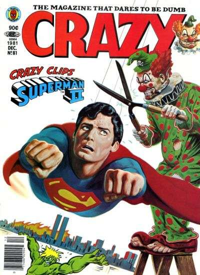 Crazy Magazine #81 comic books - cover scans photos Crazy Magazine #81 comic books - covers, picture gallery