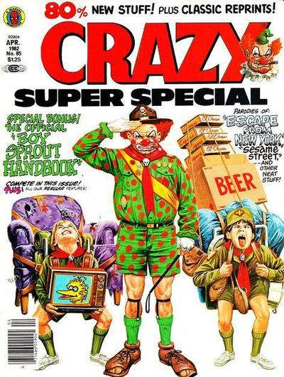 Crazy Magazine #85 comic books - cover scans photos Crazy Magazine #85 comic books - covers, picture gallery