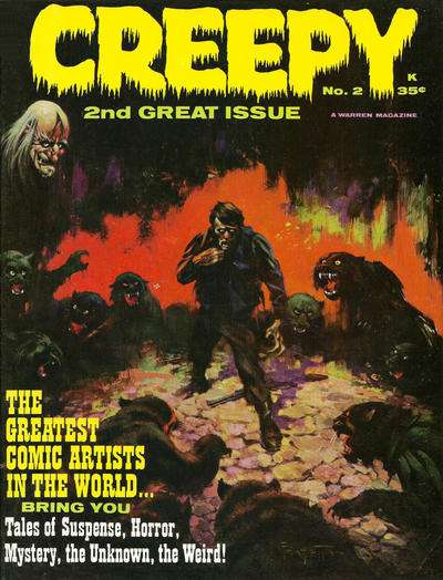 Creepy #2 comic books - cover scans photos Creepy #2 comic books - covers, picture gallery