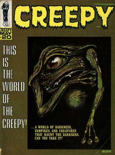 Creepy #20 comic books - cover scans photos Creepy #20 comic books - covers, picture gallery