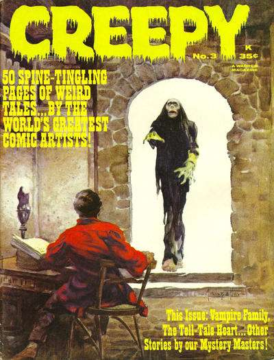 Creepy #3 comic books - cover scans photos Creepy #3 comic books - covers, picture gallery