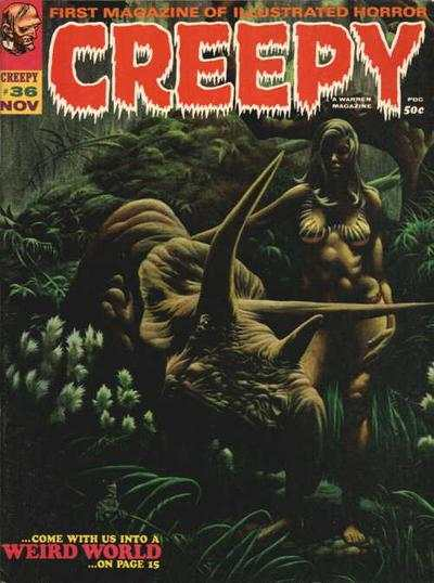 Creepy #36 comic books - cover scans photos Creepy #36 comic books - covers, picture gallery