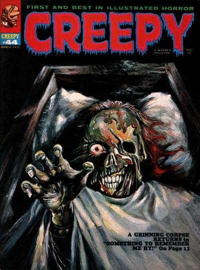 Creepy #44 comic books - cover scans photos Creepy #44 comic books - covers, picture gallery