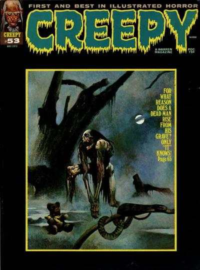 Creepy #53 comic books - cover scans photos Creepy #53 comic books - covers, picture gallery