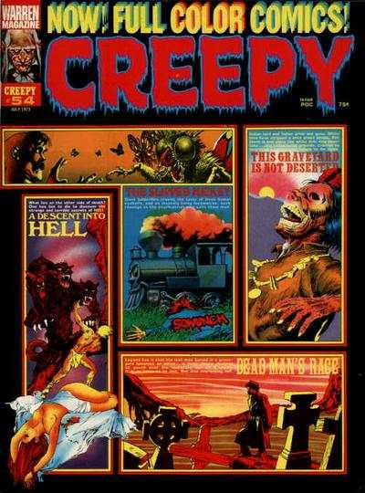 Creepy #54 comic books - cover scans photos Creepy #54 comic books - covers, picture gallery