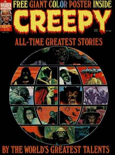 Creepy #55 comic books - cover scans photos Creepy #55 comic books - covers, picture gallery