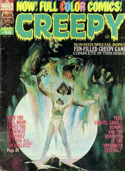 Creepy #56 comic books - cover scans photos Creepy #56 comic books - covers, picture gallery