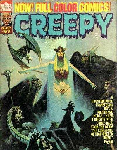 Creepy #57 comic books - cover scans photos Creepy #57 comic books - covers, picture gallery