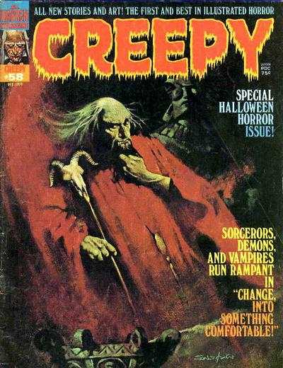 Creepy #58 comic books - cover scans photos Creepy #58 comic books - covers, picture gallery