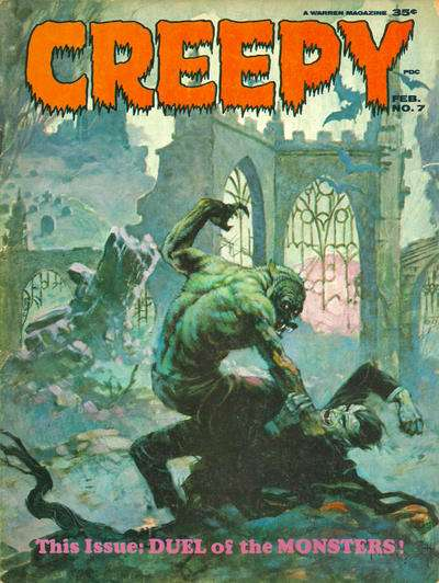 Creepy #7 comic books - cover scans photos Creepy #7 comic books - covers, picture gallery