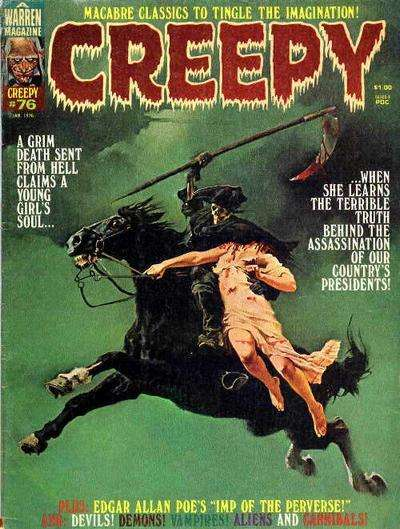 Creepy #76 comic books - cover scans photos Creepy #76 comic books - covers, picture gallery