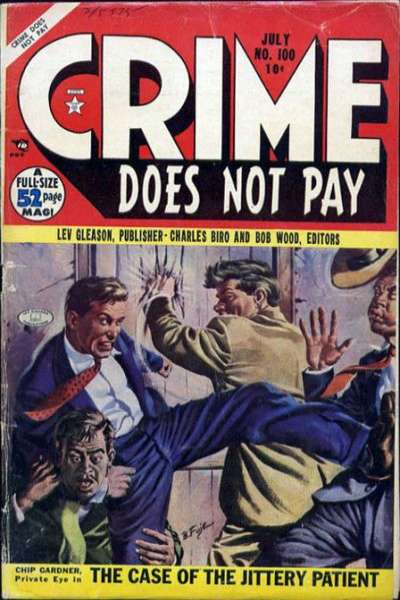 Crime Does Not Pay #100 comic books - cover scans photos Crime Does Not Pay #100 comic books - covers, picture gallery