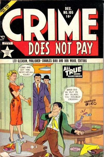 Crime Does Not Pay #105 comic books for sale