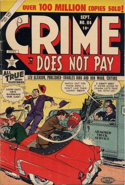 Crime Does Not Pay #114 comic books for sale