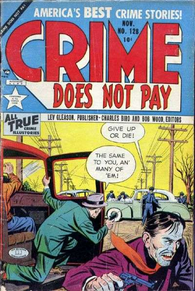 Crime Does Not Pay #128 comic books for sale
