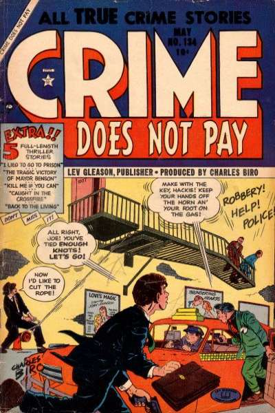 Crime Does Not Pay #134 comic books for sale