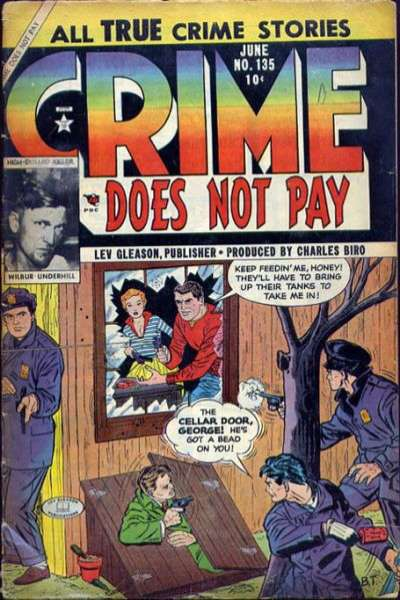 Crime Does Not Pay #135 comic books for sale