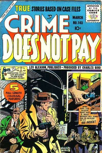 Crime Does Not Pay #143 comic books for sale