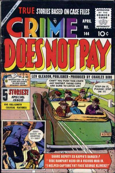 Crime Does Not Pay #144 comic books for sale