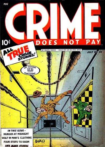 Crime Does Not Pay #34 comic books for sale