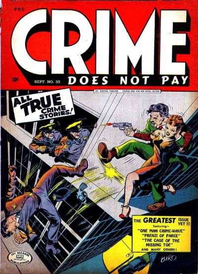 Crime Does Not Pay #35 Comic Books - Covers, Scans, Photos  in Crime Does Not Pay Comic Books - Covers, Scans, Gallery